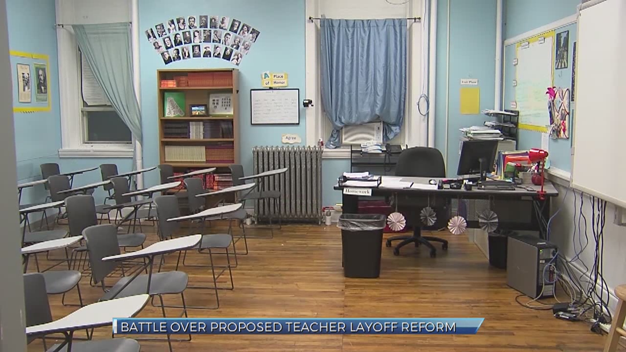 Battle over proposed teacher layoff reform_328584