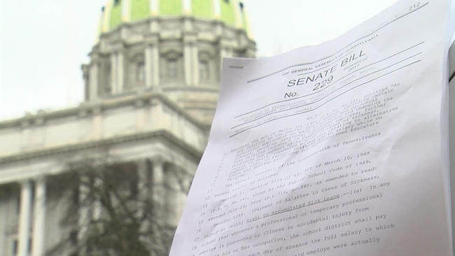 Bill To Eliminate State Mandate On Teacher Sick Time Moving
