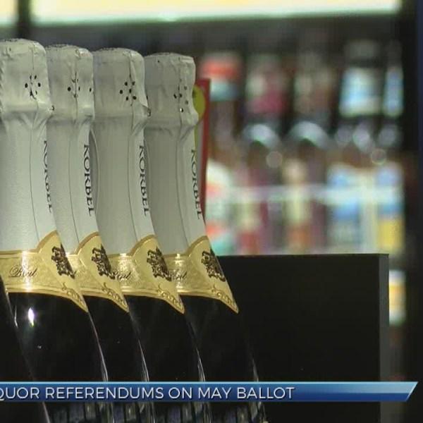 Liquor referendums on May ballots