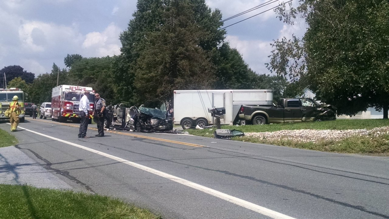 Crash closes Route 743 in East Hanover Township