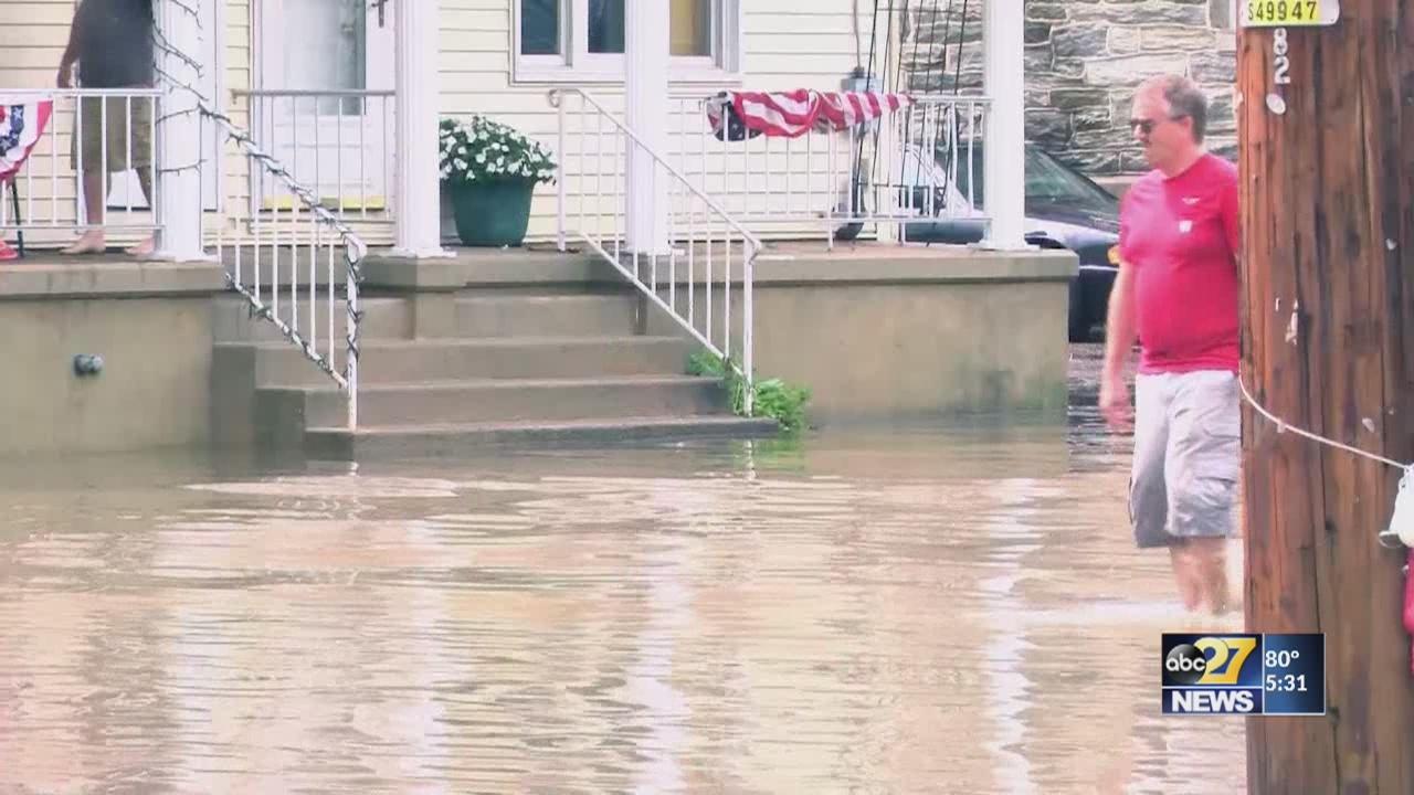 Heavy rain floods parts of Schuylkill County