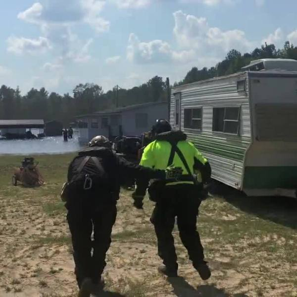 PA Helicopter Aquatic Rescue Team rescues Florence flood victims
