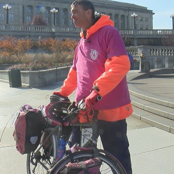 Cyclist goes coast-to-coast for breast cancer awareness