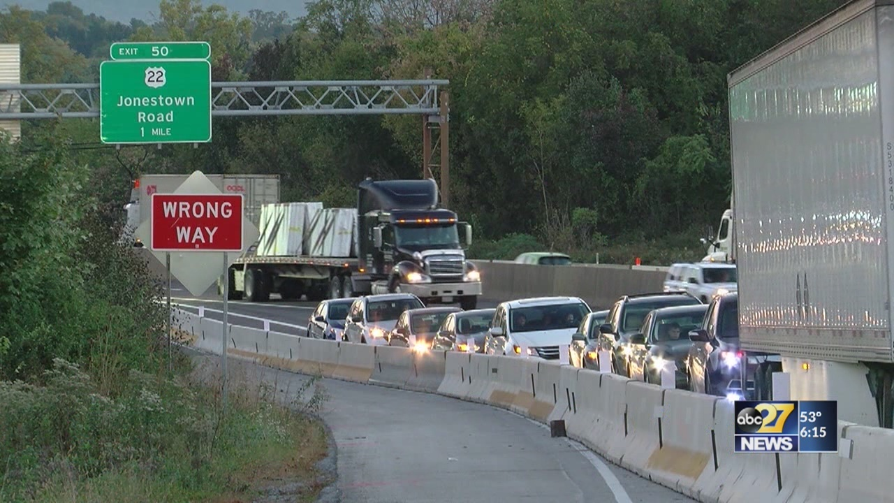 PennDOT working to fix backups caused by I-83 construction