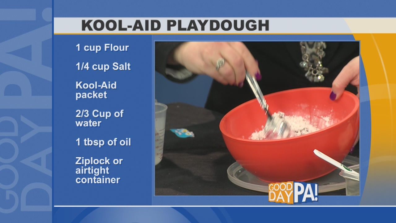 Kool-Aid Playdough demonstration