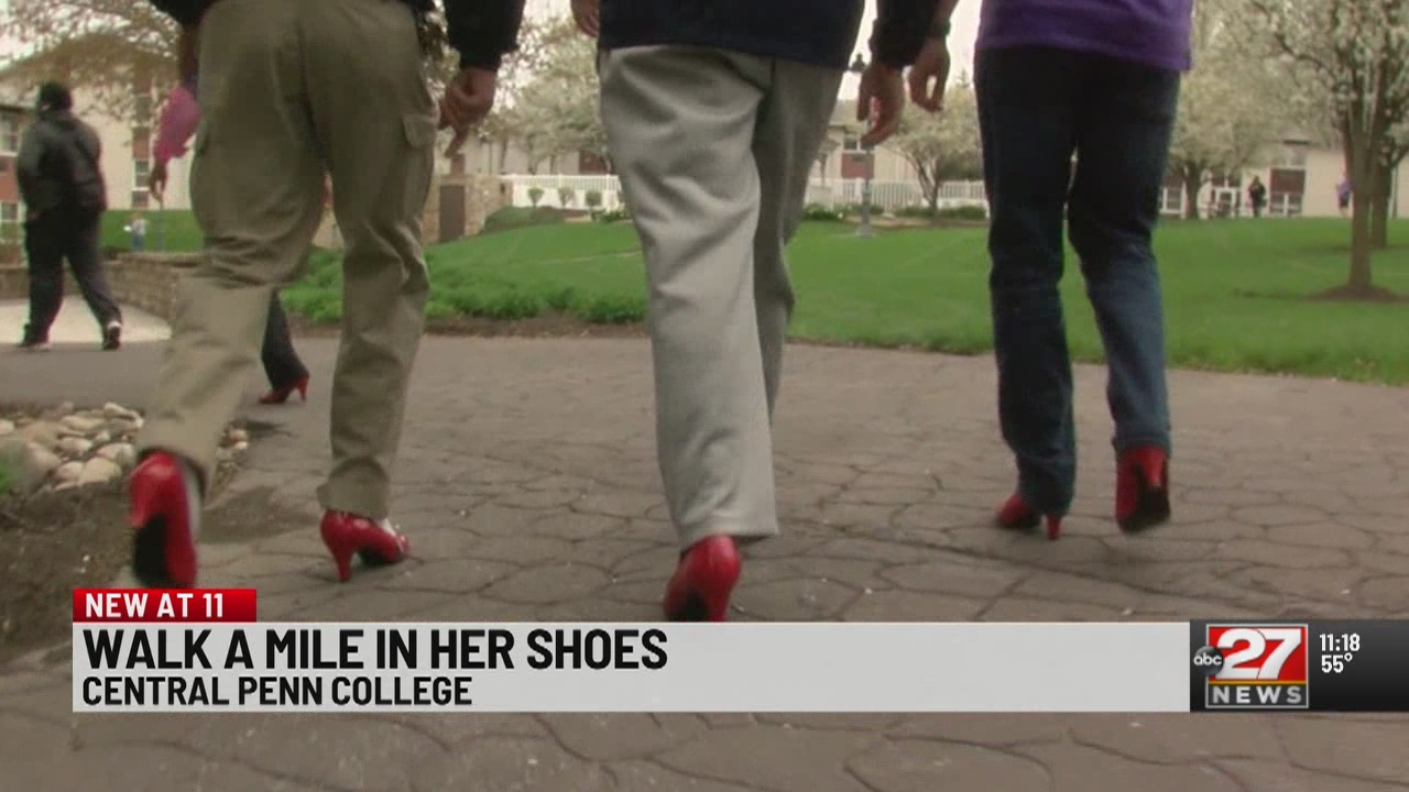 Central Penn students 'Walk a Mile in Her Shoes'