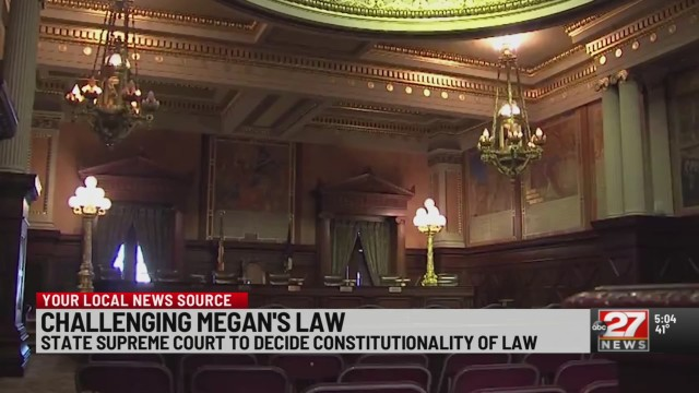Pennsylvania Supreme Court to rule on Megan's Law constitutionality