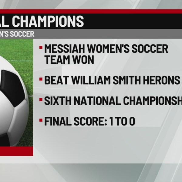 Messiah 6th National Championship soccer win