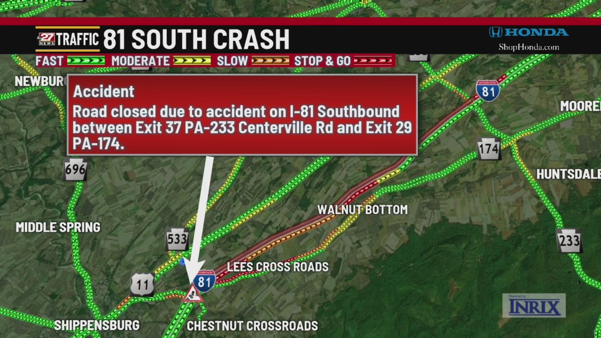 Interstate 81 reopened after several tractor trailer crash