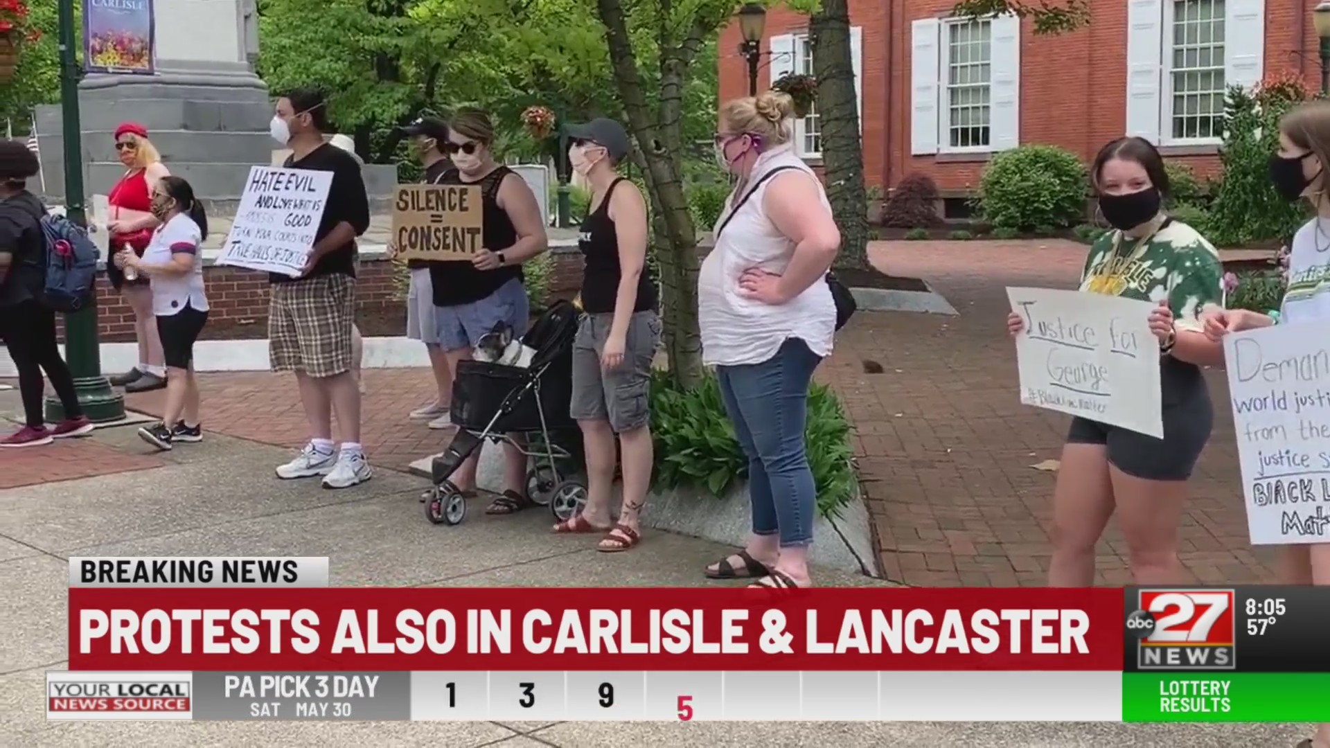 Peaceful protests in downtown Carlisle