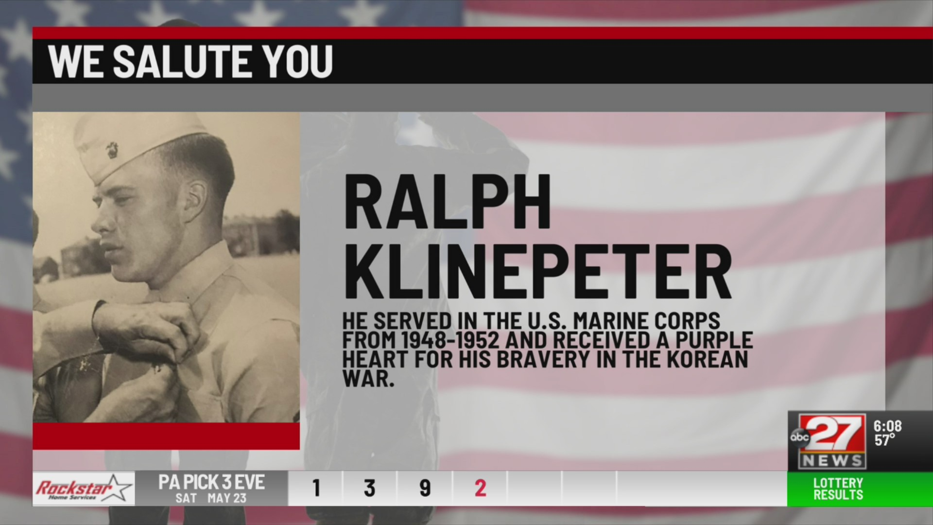 We Salute You Ralph Klinepeter