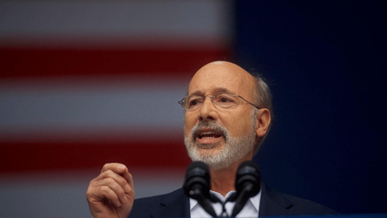 Governor Wolf endorsing Joe Biden for President
