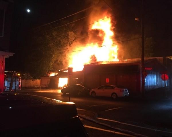 New Dorwart Firework fire