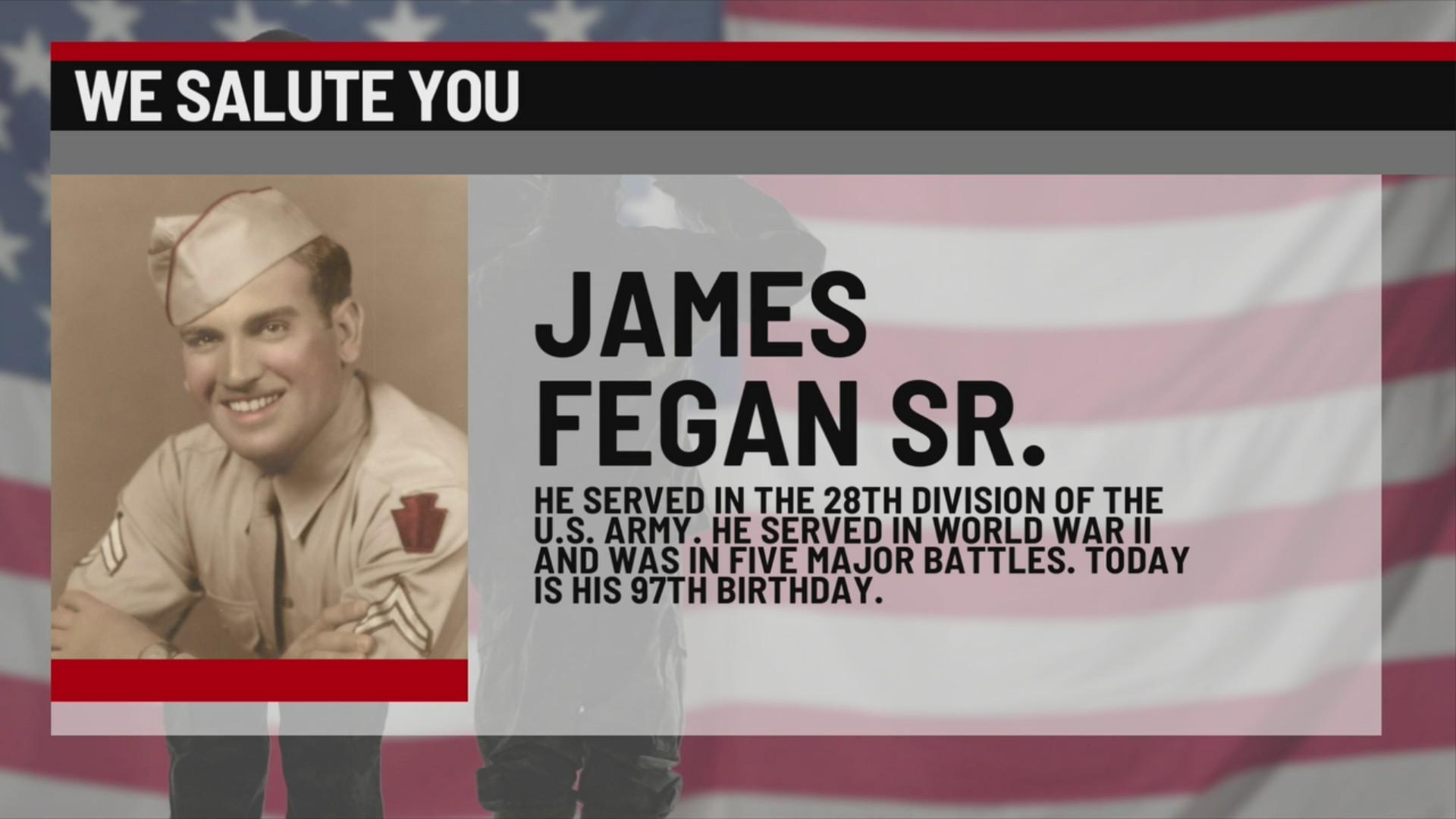 We Salute You James Fegan Sr