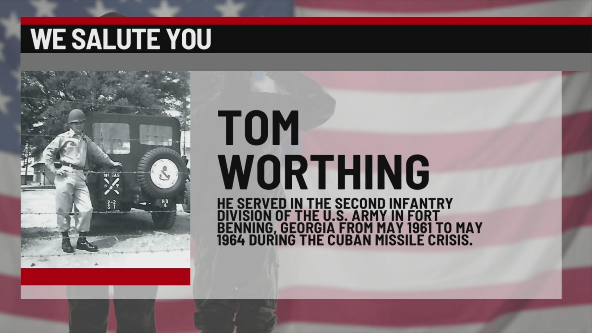 We Salute You Tom Worthing