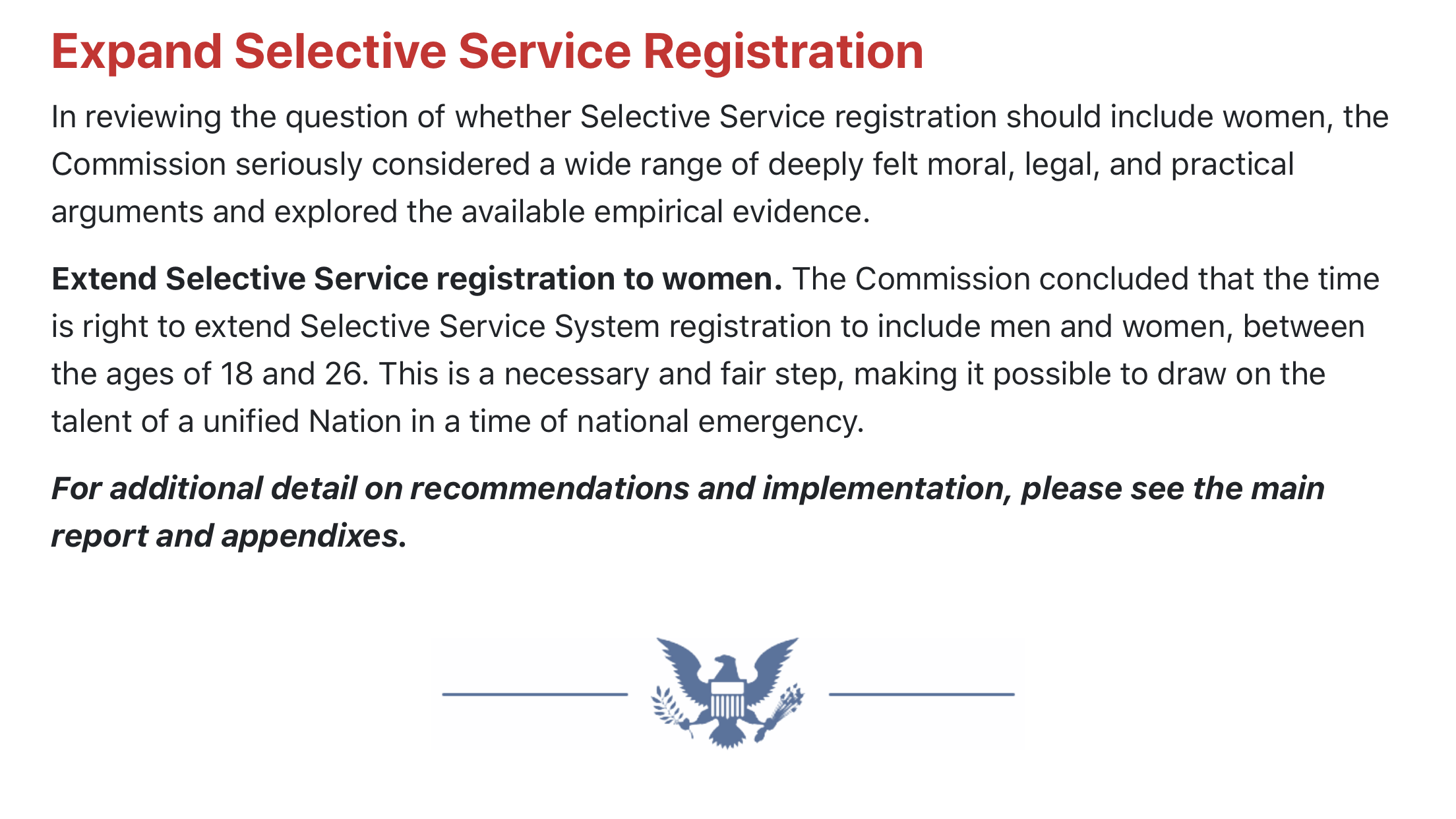 Should Women Also Be Required To Register With Selective Service Abc27