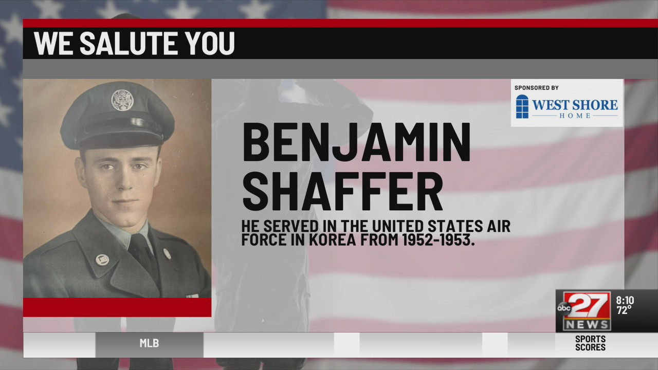 We Salute You Benjamin Shaffer