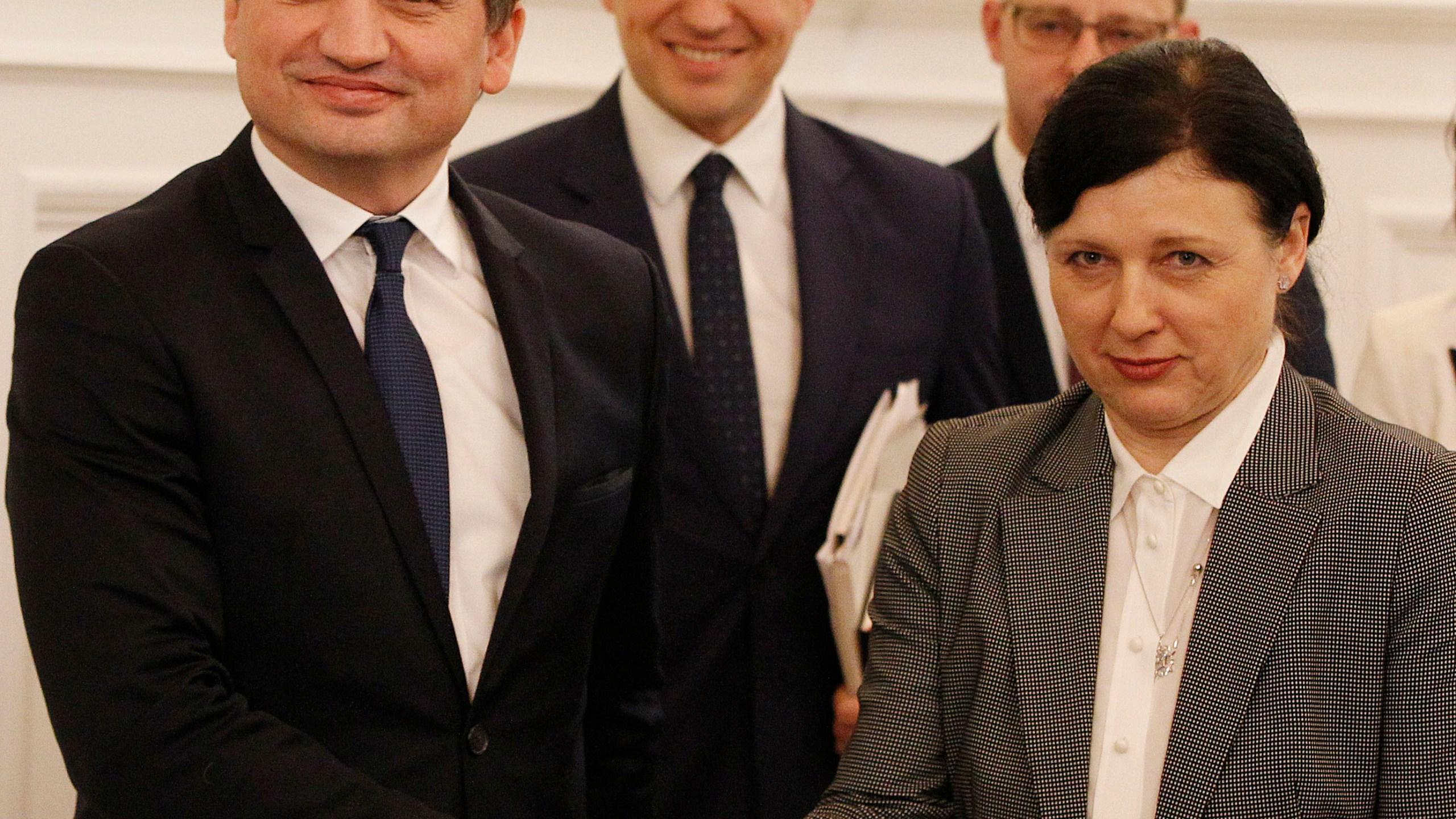 Zbigniew Ziobro, Vera Jourova