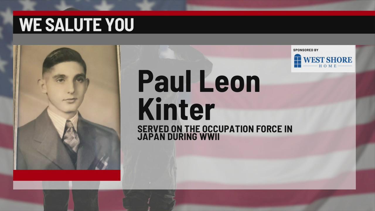 We Salute You Paul Leon Kinter