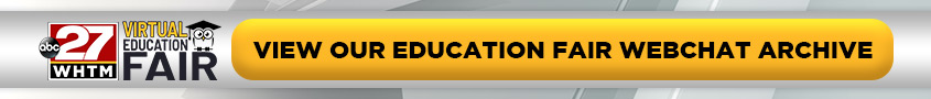 Virtual Education Fair Webchat Archive Button