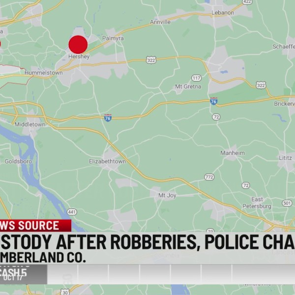 Robberies and car chase from Lancaster to Cumberland County