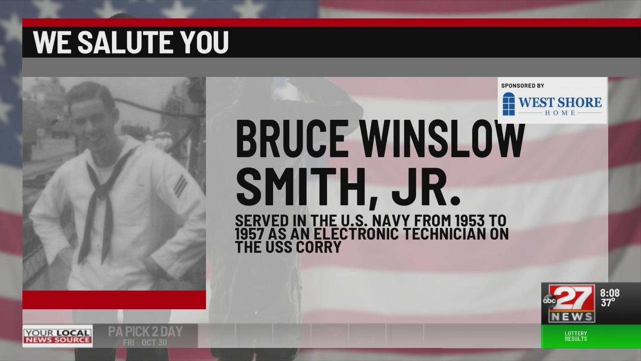 We Salute You Bruce Winslow Smith Jr