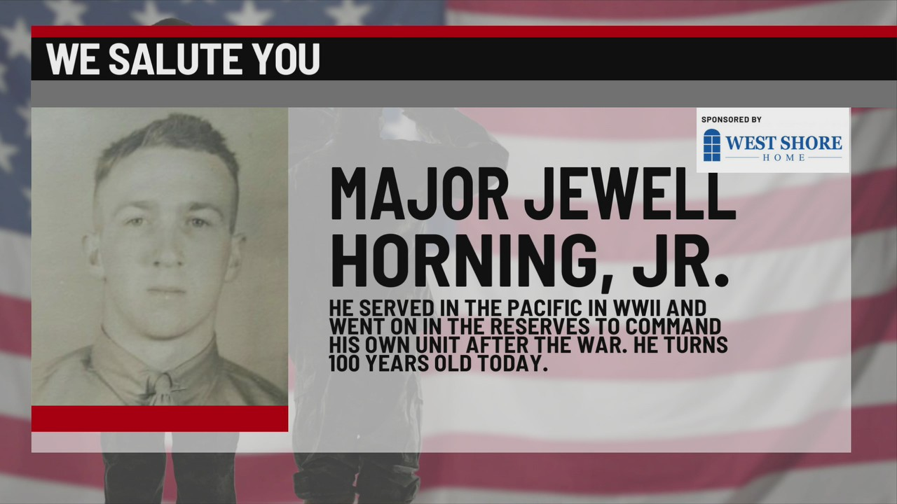 We Salute You Jewell Horning Jr.