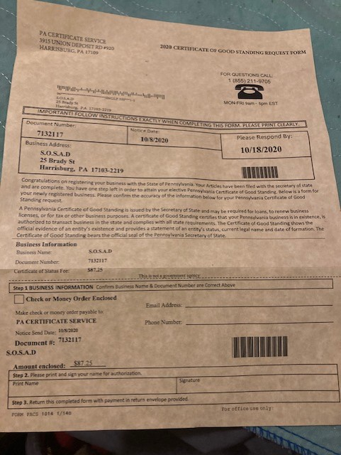 Scam Letter Targeting Businesses Offers Fake Certification Abc27 Types of certificates and licenses. scam letter targeting businesses offers