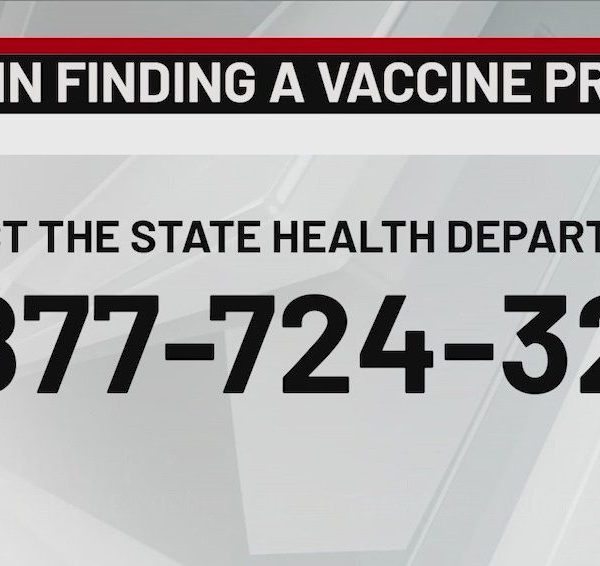 number for finding covid vaccine provider