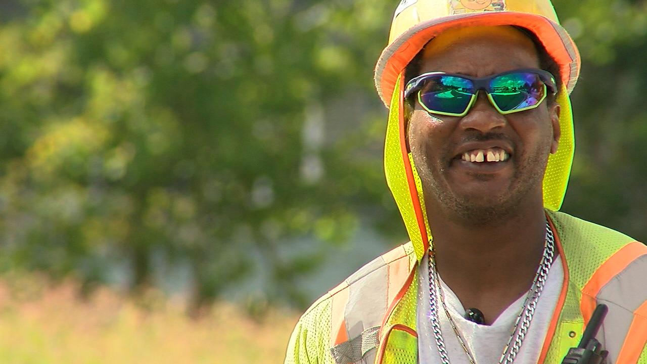 Larry McMillan, Midstate traffic flagger