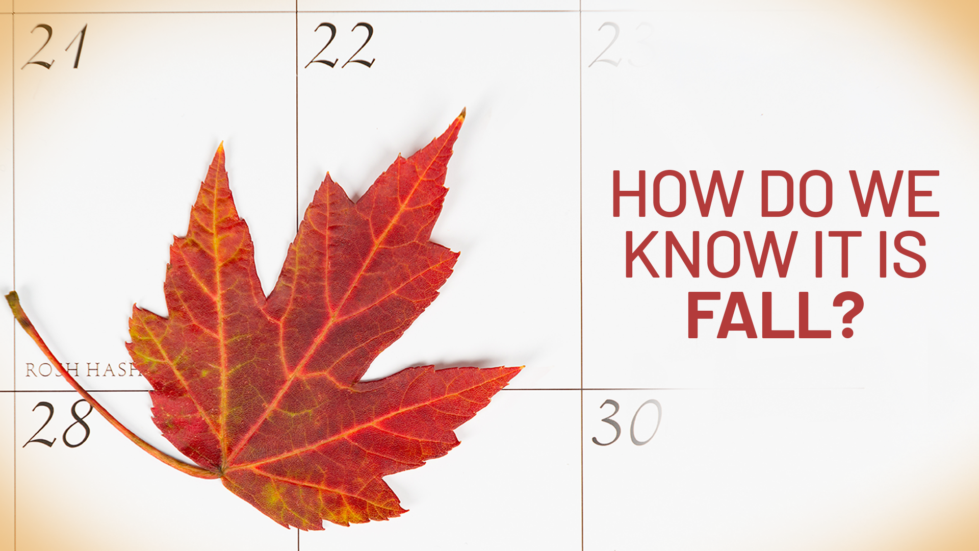 How do we know when it is fall