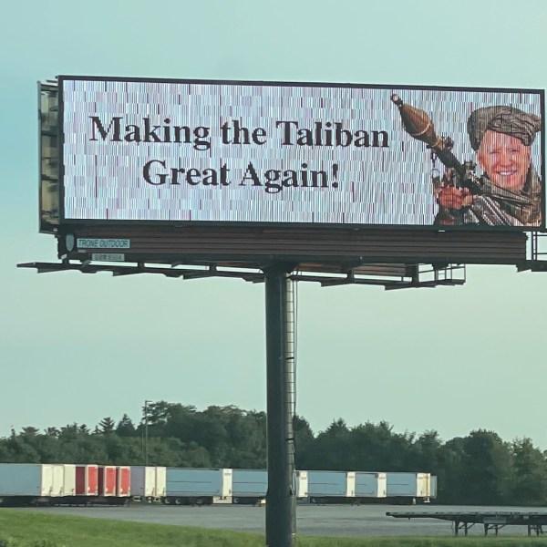 Biden Taliban billboard